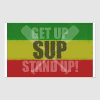 Get Up Stand Up SUP Sticker