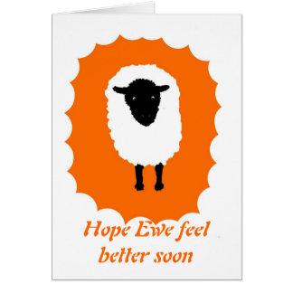 Get Well Card Hope Ewe feel better soon