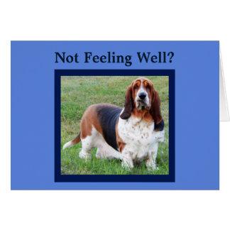"""""""Get Well"""" Card w/Basset Hound Nurse and Bones"""