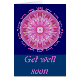 Get Well Card with Pink Hollyhock Star
