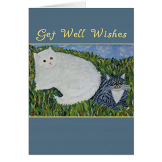 Get Well Cats Greeting Card