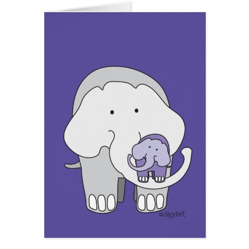 Get Well Elephant Greeting Card