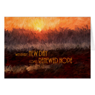 Get Well for Cancer Patient Renewed Hope Sunrise Card