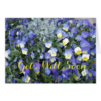 Get Well Greeting Card-Pansies Card
