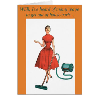 GET WELL HUMOUR housework Card