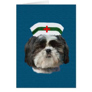 Get Well, Shih Tzu Dog Greeting Card
