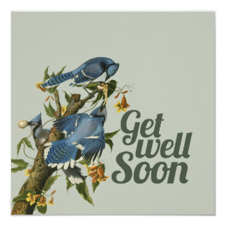 Get well Soon 13 Cm X 13 Cm Square Invitation Card
