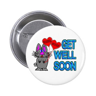 Get Well Soon 6 Cm Round Badge
