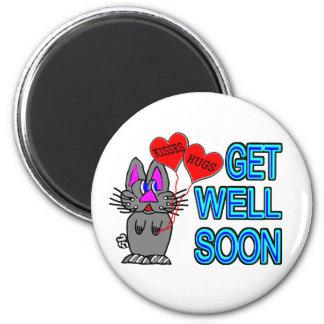Get Well Soon 6 Cm Round Magnet