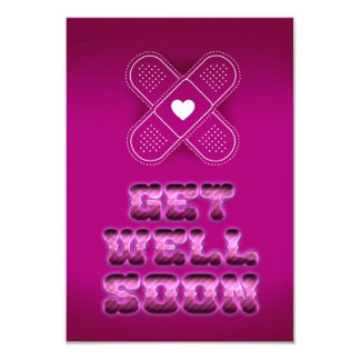 Get well Soon 9 Cm X 13 Cm Invitation Card