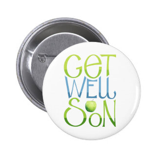 Get Well Soon Apple Button