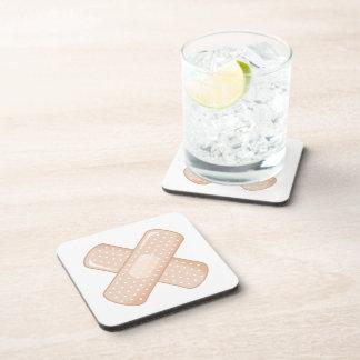 Get Well Soon Bandaid (Nurse Care Crossed Plaster) Beverage Coasters
