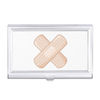 Get Well Soon Bandaid (Nurse Care Crossed Plaster) Case For Business Cards