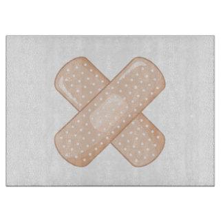 Get Well Soon Bandaid (Nurse Care Crossed Plaster) Cutting Board