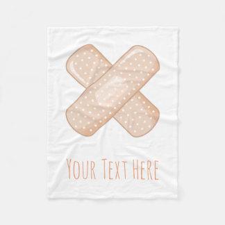 Get Well Soon Bandaid (Nurse Care Crossed Plaster) Fleece Blanket