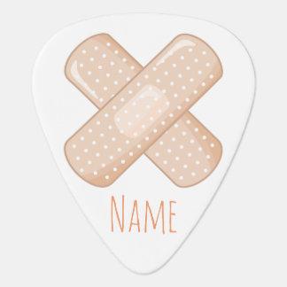 Get Well Soon Bandaid (Nurse Care Crossed Plaster) Guitar Pick