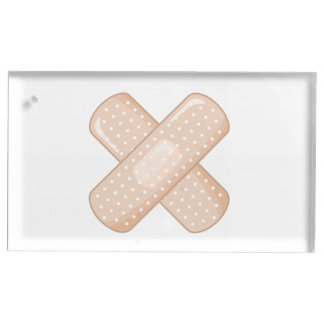 Get Well Soon Bandaid (Nurse Care Crossed Plaster) Table Card Holders