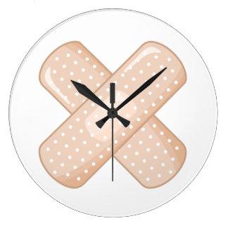 Get Well Soon Bandaid (Nurse Care Crossed Plaster) Wallclocks