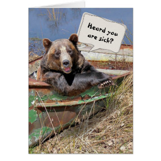 Get Well Soon Bear Humor Card