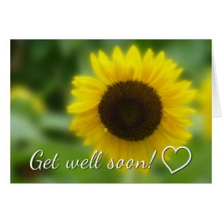 Get well soon: Bright and cheerful sunflower Card