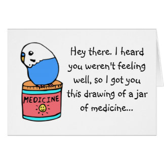 Get Well Soon- Budgie Card