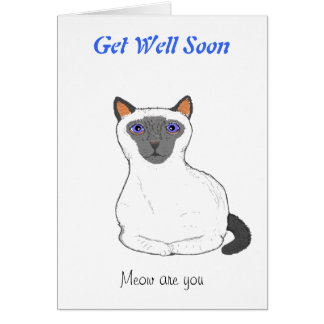 Get well soon card customize Cat drawing