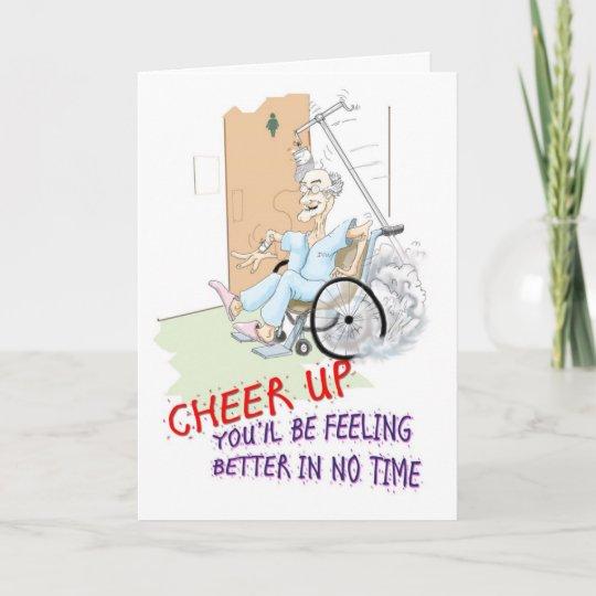 Get Well Soon Card Funny Grandpa In Wheelchair Card Zazzle Com Au
