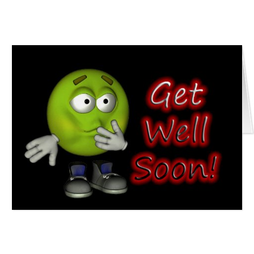 Get Well Soon Card with Smiley