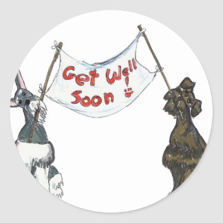 get well Soon Classic Round Sticker
