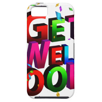 Get Well Soon Confetti Text iPhone 5 Covers