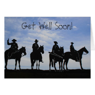 Get Well Soon Cowboys greeting card