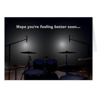 Get Well Soon Drummer Card