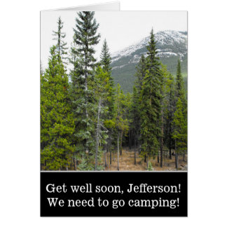"""Get well soon"" + Forest and Mountain Scene Card"