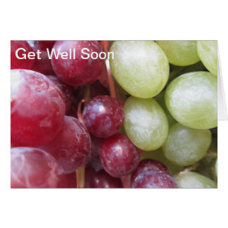 Get Well Soon Grapes Greeting Card