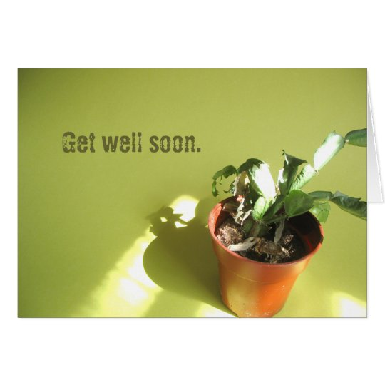 Get well soon. greeting card
