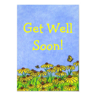 Get Well Soon!~Greeting Card~Personalise! 13 Cm X 18 Cm Invitation Card