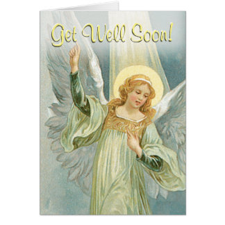 Get Well Soon - Guardian Angel Greeting Card