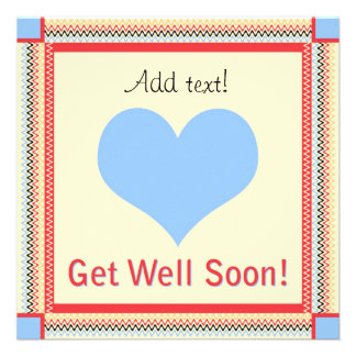 Get Well Soon - Heart Greeting Card