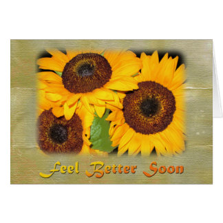 Get Well Soon Knee Surgery Sunflowers Card