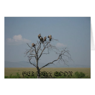get well soon message greeting card
