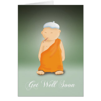 Get Well Soon - Monk Card
