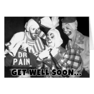 """Get Well Soon - Or We'll Be Over"" Greeting Card"
