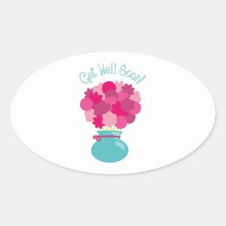 Get Well Soon! Oval Sticker