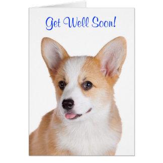 Get Well Soon Pembroke Welsh Corgi Greeting Card