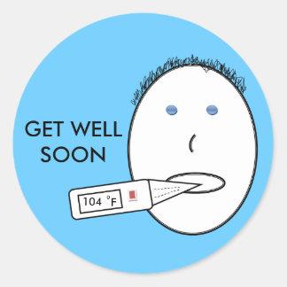 Get well soon sticker