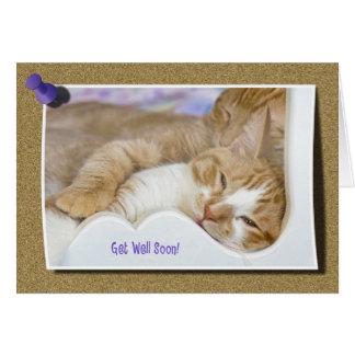 Get Well Soon Tabby Card