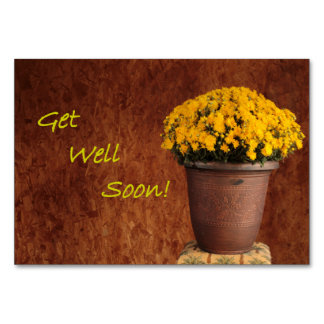 Get Well Soon Table Cards