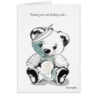 GET WELL SOON, TEDDY BEAR GREETING CARD