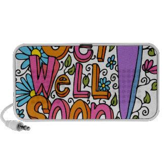 Get Well Soon Text Cartoon Speaker System