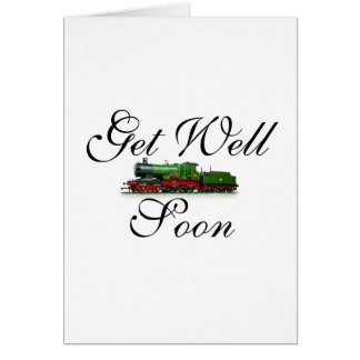 Get Well Soon Train Card